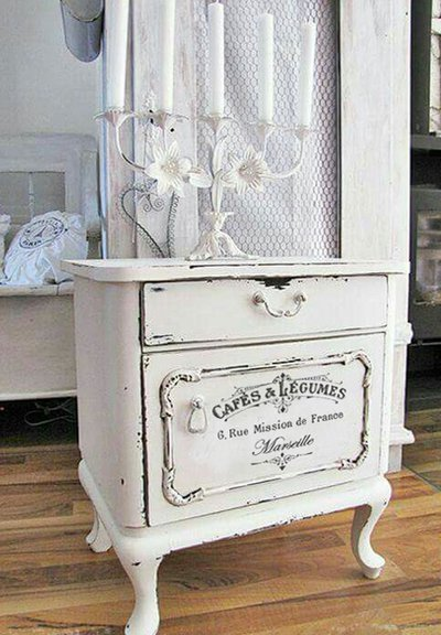 Adesivo shabby chic Cafes & Legumes