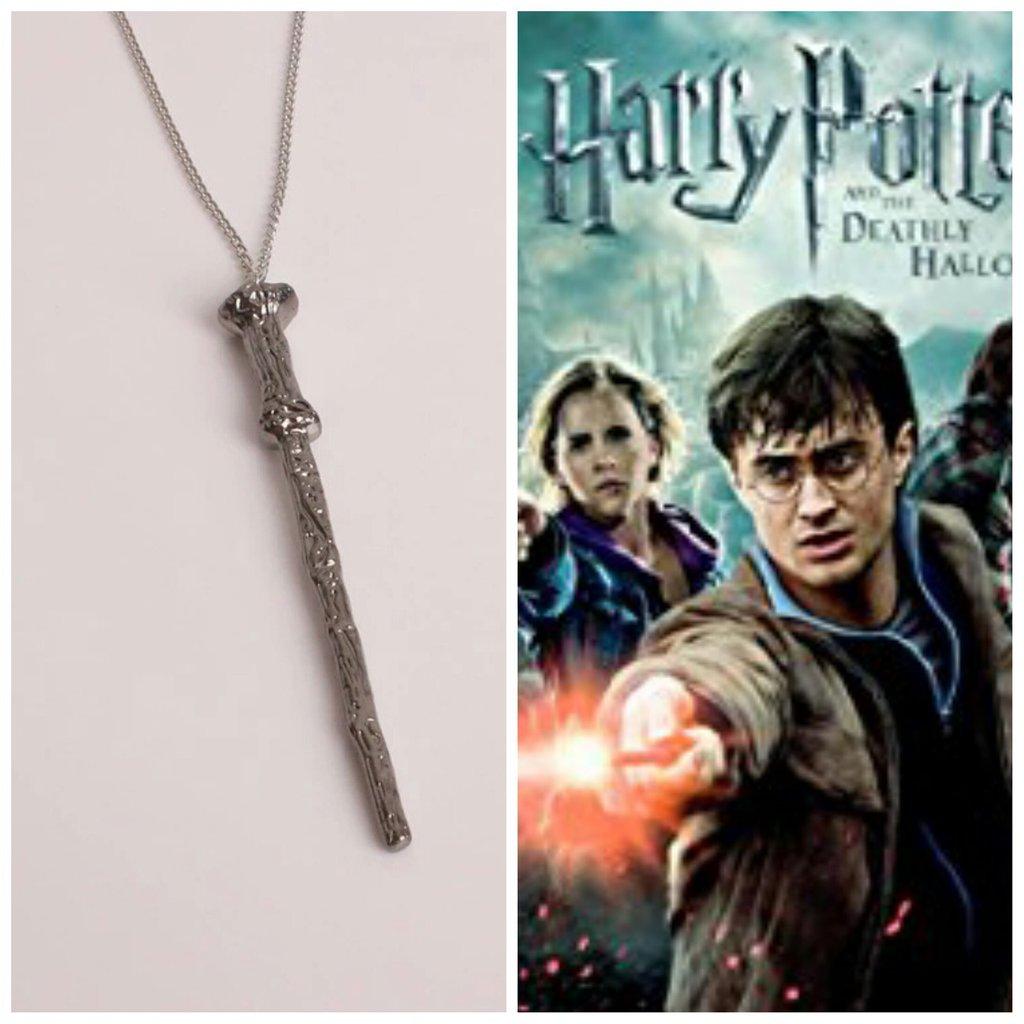Ciondolo collana bacchetta magica Harry Potter magia hogwarts