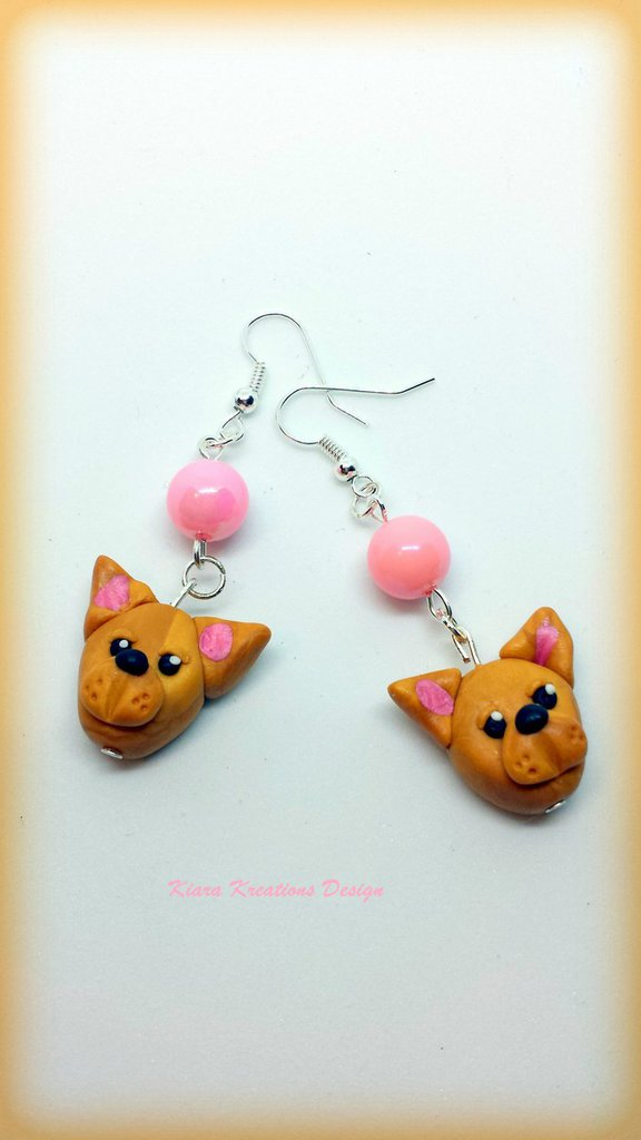 Orecchini In Fimo Cani Pinscher Kawaii Miniature Idee Regalo Com