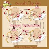 Cupido e Cupida - Clip Art per Scrapbooking e Decoupage - Immagini
