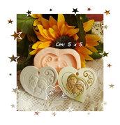 Stampo *Cuore Swirl Sacra Famiglia*