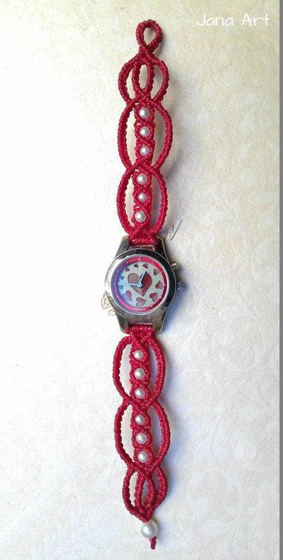 Orologi con cinturino in macramé fatto a mano