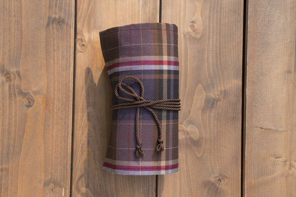 Astuccio portapenne rotolo scozzese di lana, per 35 matite