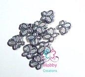 10 spaziatori divisori separatori in acrilico farfalle argento anticato bigiotteria 10 mm  bomboniera bomboniere  per bigiotteria, collane portachiavi, orecchini  chiudipacco