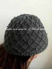 Cappello donna / ragazza in pura lana merinos 100%