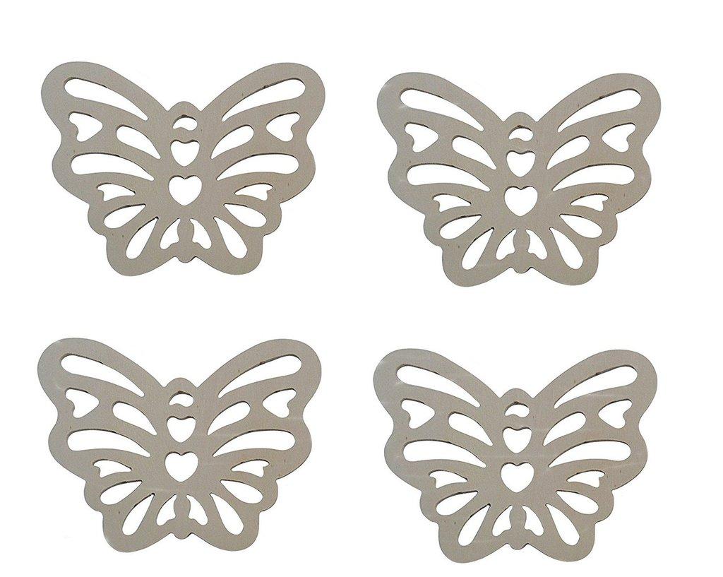 Farfalle Fai Da Te farfalle traforate in legno per il fai da te 4 pz cm 11 x 14,5