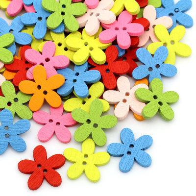 1*Lotto Stock 60 Bottoni a 2 Fori colorati Fiore Scrapbooking 1,4 x 1,5 mm