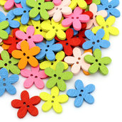 1*Lotto Stock 60 Bottoni a 2 Fori colorati Fiore Scrapbooking 1,4 x 1,5 mm