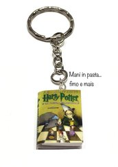 Portachiavi libro Harry Potter in fimo