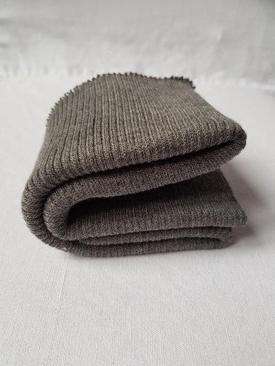 Bordo grigio di maglia alto 8 cm,rifiniture maglioni e felpe,materiali