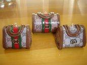 BOMBONIERA MATRIMONIO LAUREA COMPLEANNO - fashion bag in FIMO  portafoto segnaposto