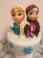 Cake topper Frozen Anna e Elsa