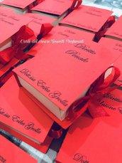 Scatola porta confetti bomboniera sacchetto LAUREA libro PERSONALIZZABILE (0,90 al pezzo)
