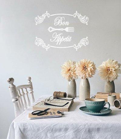 Adesivo per cucina Bon Appetit con forchettina - Per la casa e per ...