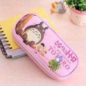 Astuccio porta oggetti Totoro colore rosa pastello as44