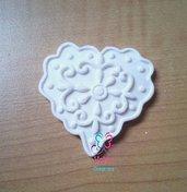 Gessetti profumati artigianali a forma di Cuore Decorato per Nozze, Compleanno, Chiudipacco, Segnaposto, Cresima, Comunione