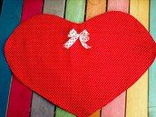 Set di 2 tovagliette a forma di cuore!!