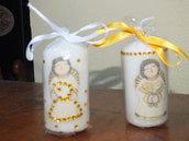 candele segnaposti sposi