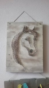 QUADRO STRING ART CAVALLO