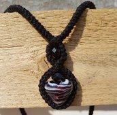 Collana cuore sfumato + orecchini stella regalo