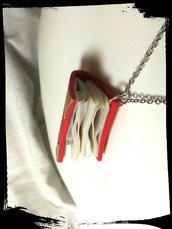 Collana libro rosso 3.5 cm