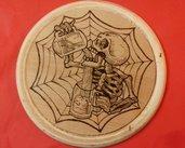 Tagliere / Sottobicchieri pirografato in legno