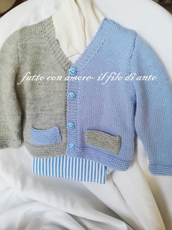 super popular 99f9b c2642 Maglia / giacchino / cardigan bambino / bambina in pura lana merinos 100%