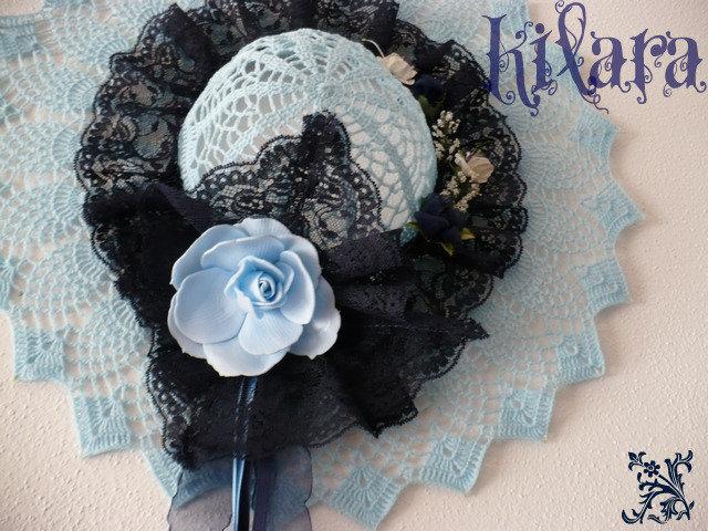 Cappello uncinetto azzurro 2