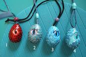 2 pezzi a scelta - uova di drago occhio ciondolo - harry potter - trono di spade - animali fantastici - fantasy