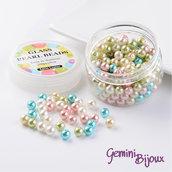 Lotto 50 perle Mix Pastello 8 mm.
