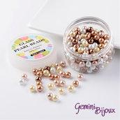 Lotto 50 perle Mix Caramel 8 mm.