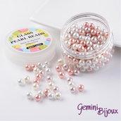 Lotto 50 perle Mix Sfumature di Rosa 8 mm.