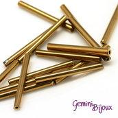 Lotto da 50 grammi Bugles Golden Plated, 20x2.5mm