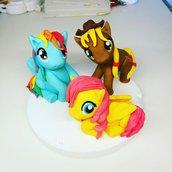 my  little pony decorazioni torta in pasta di zucchero