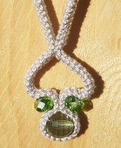 Collana cuore girato + orecchini infinito in regalo