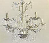 Struttura lampadario cromata a 5 luci. Perfetta e pronta per il vostro allestimento