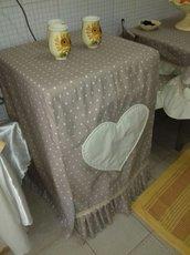 Copri lavatrice stile shabby fatto a mano
