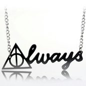 Collana ALWAYS ciondolo harry potter doni della morte silente hogwarts hp