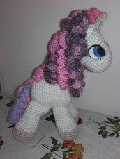 Peluche Unicorno Cavallino all'uncinetto pupazzo amigurumi homemade