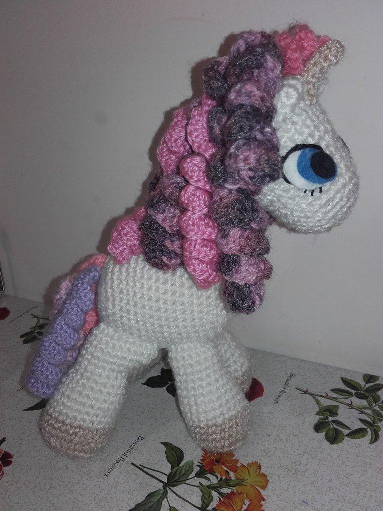 Peluche Unicorno Cavallino Alluncinetto Pupazzo Amigurumi Homemade