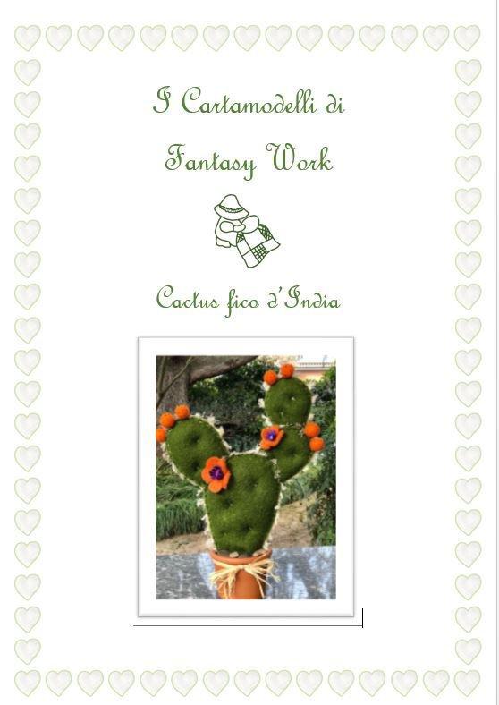 Cartamodello cactus fico d'india - gigante