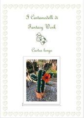 cartamodello cactus lungo