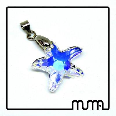 Pendaglio Stella Marina in cristallo Swarovski aurora boreale