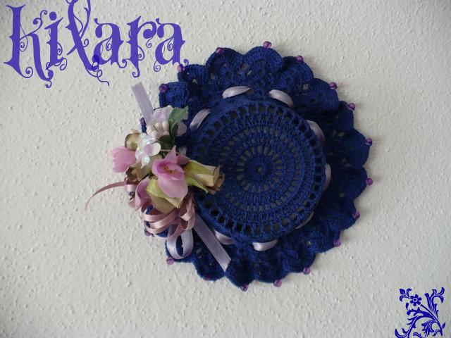 Cappello uncinetto piccolo blu