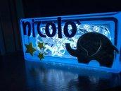 Lampada Nicolò in azzurro