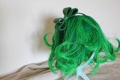 cerchietto fiocco tartan verde