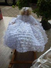 Bambola porcellana bisquit Sposa piccola