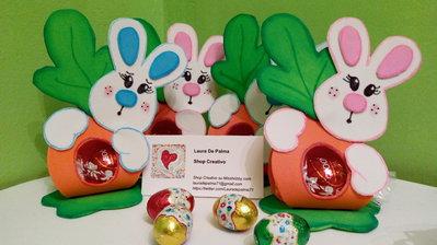Segnaposto Pasqua coniglio con carota portacioccolatini