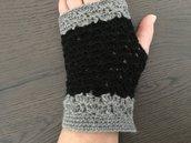 Mezzi guanti bicolori