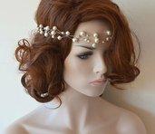 Filo  colore argento con perle  per cerimonia